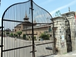 Covid: Main gate of historic Jamia Masjid in Nowhatta down town Srinagar closed
