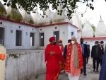 Jammu and Kashmir Lt Guv Manoj Singa reviews Surinder Lake