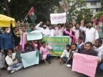Protest againt JEE, NEET in Patna