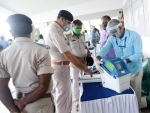 Patna: An election officer giving teach for operate Electronic Voting Machine