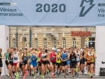 Runners participating in Vilnius Marathon 2020