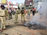Police trying to douse fire in Agartala