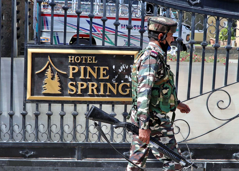 """Sleuths of National Investigation Agency raided hotel """" Pine Spring"""""""