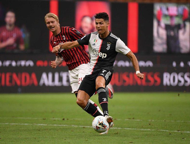 Italian Serie A football match between AC Milan and Juventus
