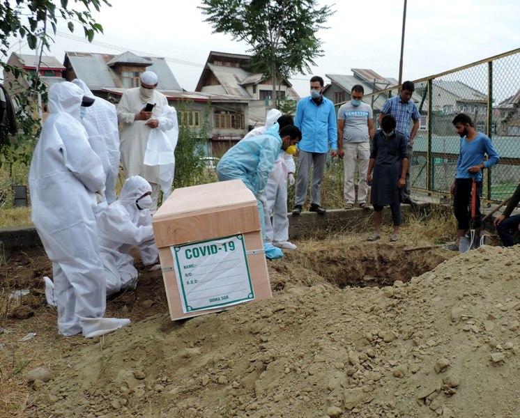 Burial of deceased Covid-19 patient
