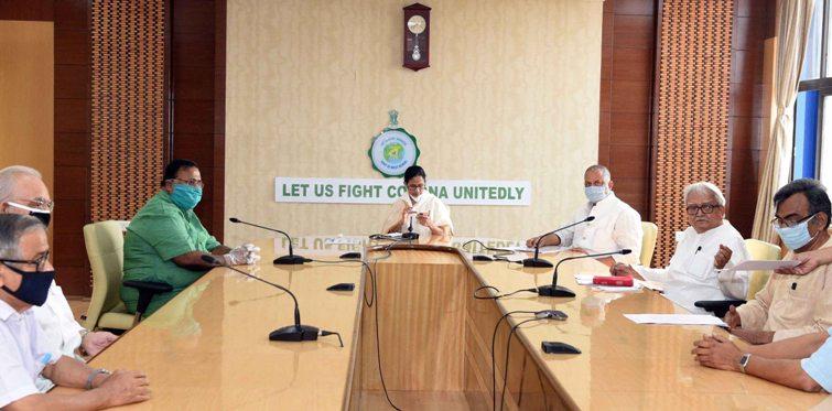 Mamata Banerjee holds meeting with Left Front leaders at Nabanna to fight Coronavurus pandemic in Kolkata