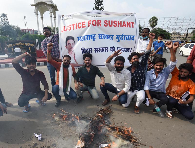 Protests demanding CBI probe into Sushant Singh Rajput's death