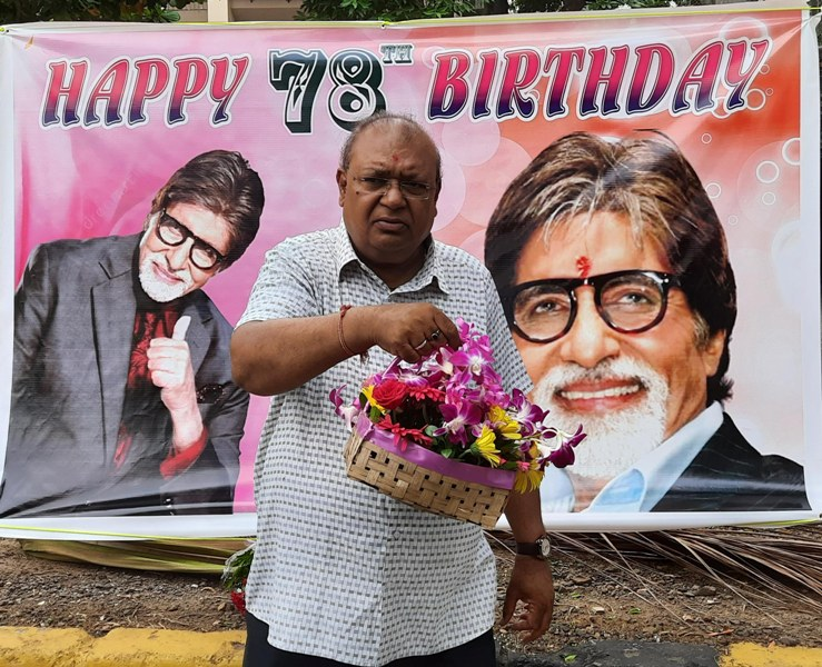 Fans celebrate birthday of Amitabh Bachchan