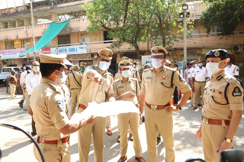 Hyderabad City Police Commissioner Anjani Kumar, along with the concerned Nodal Officers, GHMC Officials inspect GHMC election