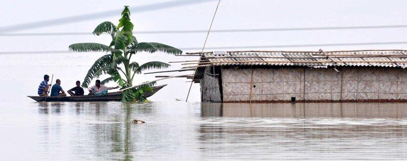 Flood in Hatisela, Kamrup