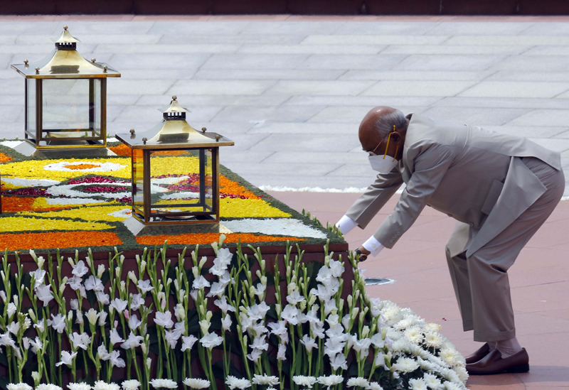 President Kovind pays tribute on Independence Day