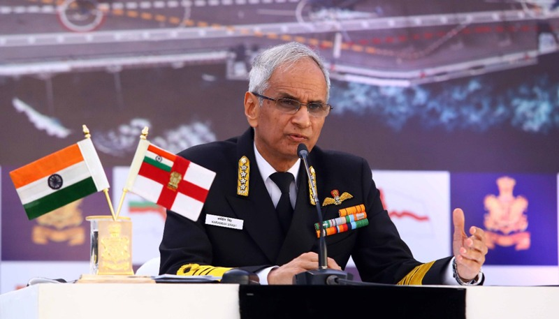 Chief of the Naval Staff Admiral Karambir Singh addresses annual press conference on eve of Navy Day in New Delhi