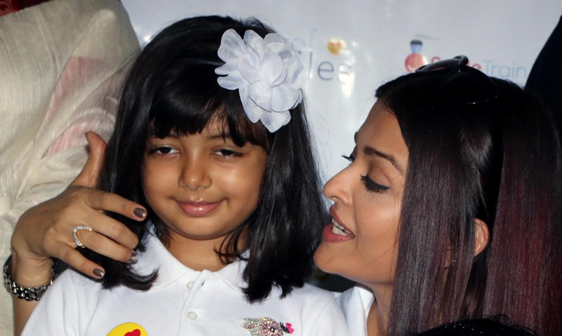 File photos of Aishwarya Rai and daughter Aradhya