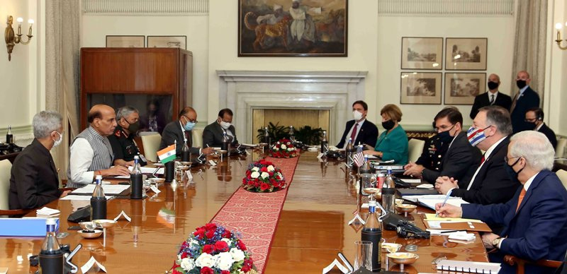 India-USA 2+2 dialogue in New Delhi
