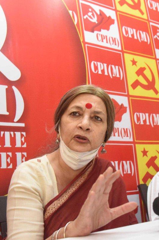 CPI-M's Brinda Karat holds press conference