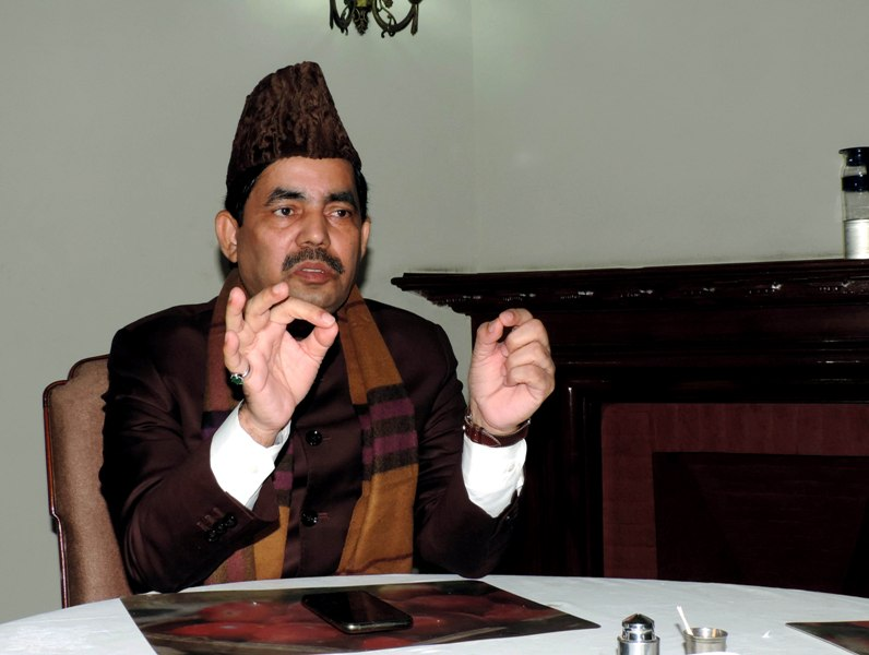 BJP leader Syed Shahnawaz Hussain interacts with UNI