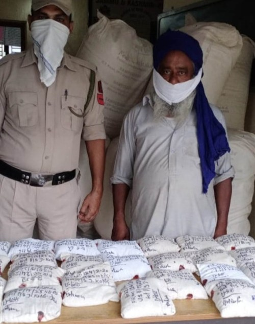 Truck driver held with huge contraband of poppy straw in Jammu