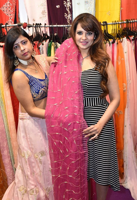 Actress Saloni and actress Mannara Chopra along with Aby Dominic Organizer HiLife Exhibition at the Grand launch of Hilife Exhibition in Hyderabad