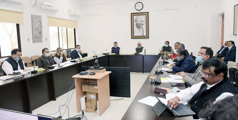 Nitish Kumar attends review meeting of Revenue and Land Reform Department in Patna