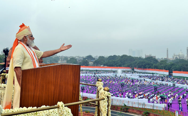 India's 74th Independence Day: PM Modi at Red Fort in New Delhi