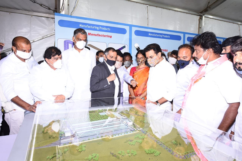 Telangana Minister lays foundation for rail coach factory