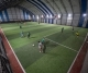 People play soccer at am indoor stadium in Istanbul