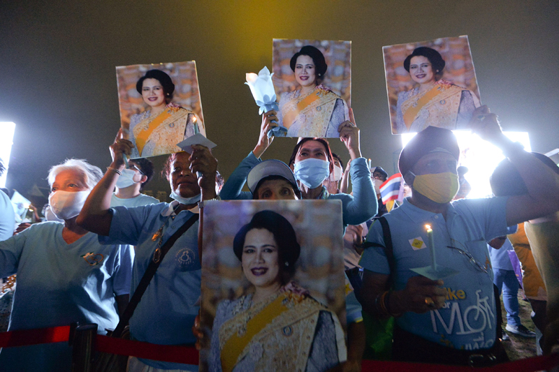 Celebration of Thailand's Queen Mother in Bangkok