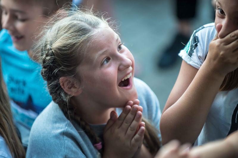 A girl takes part in TikTok filming session in Lithuania's Vilnius