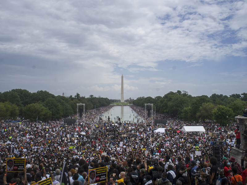 Protest against police brutality and racism in Washington