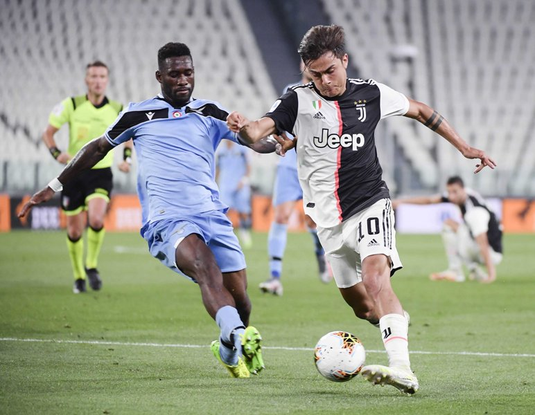 Serie A football match in Turin