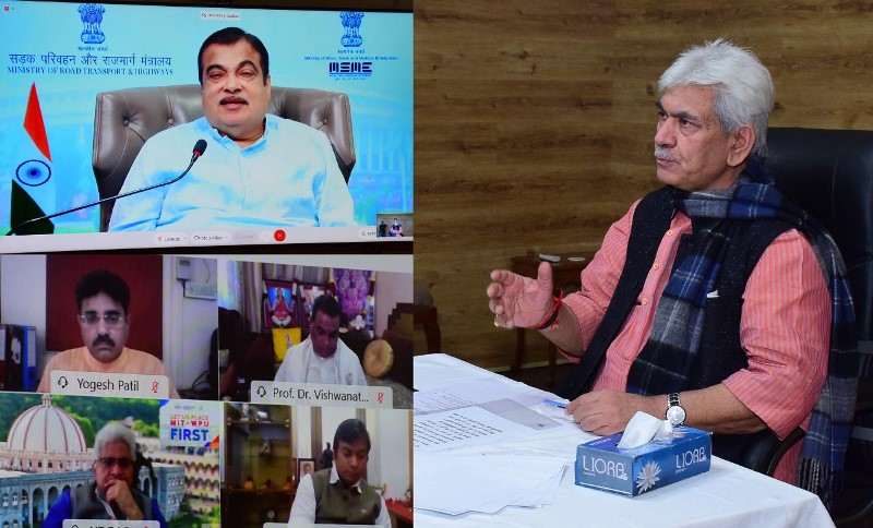 J&K Lieutenant Governor Manoj Sinha addresses conclave through virtual mode in Jammu