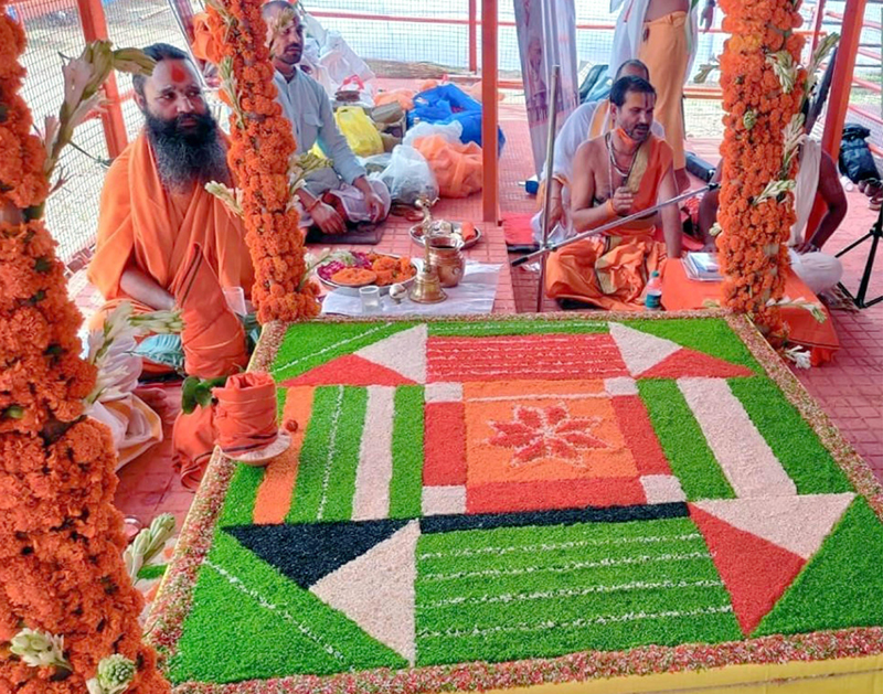 Ramarcha Pujan at Ram Temple commences