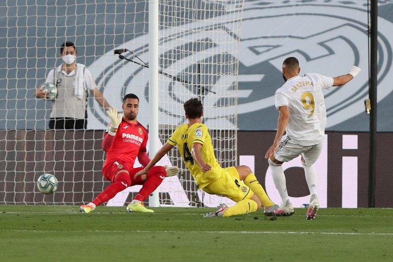 La Liga football match between Real Madrid and Villareal