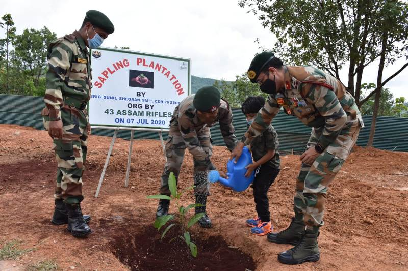 Assam Rifles commemorates Van Mahotsav in Manipur