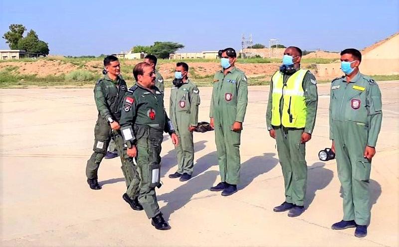 Chief RKS Bhadauria visits frontline air base