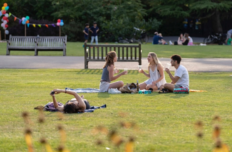 London: People enjoy leisure time at Regents Park