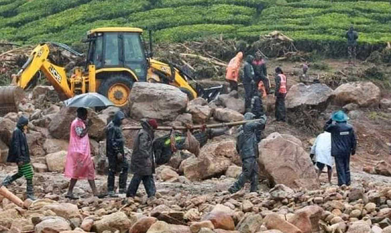 Idukki: Rescue ops continue to locate missing people who were trapped under debris after landslide