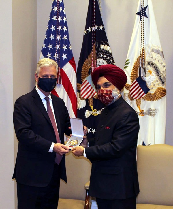 US President Donald Trump presents PM Modi with 'Legion of Merit'