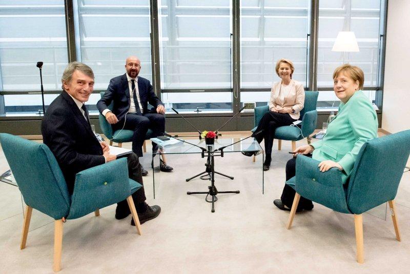 German Chancellor Angela Merkel attends meeting in Brussels
