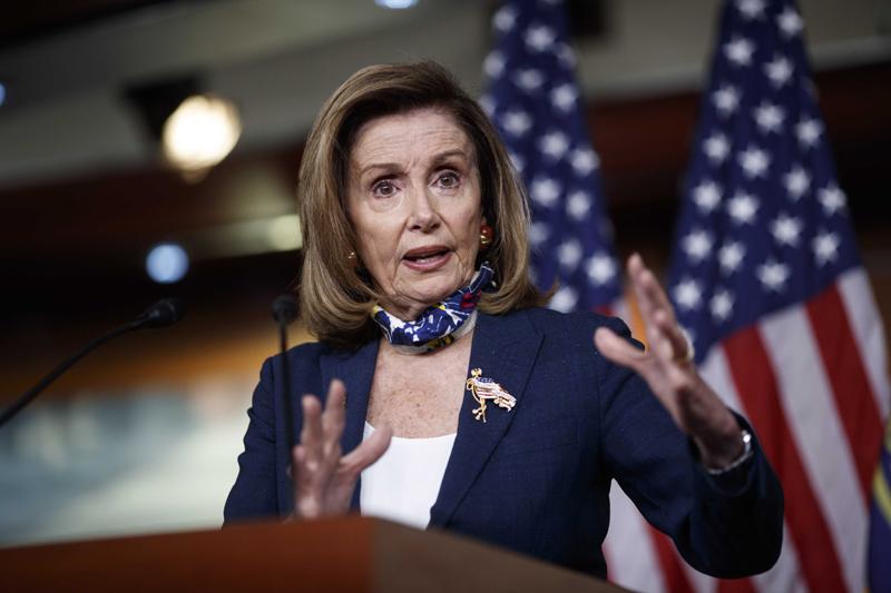Washington: U.S. House Speaker Nancy Pelosi speaks during a press conference