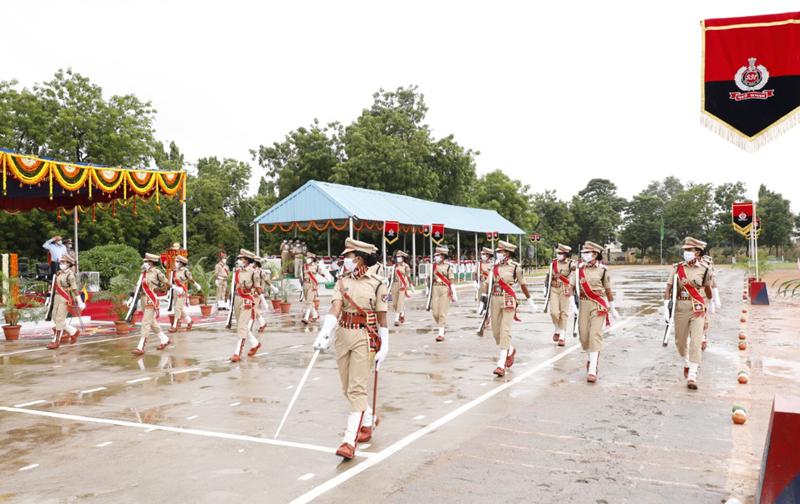 SCR General Manager Gajanan Mallya addresses Passing Out Parade of 83 women Sub-Inspector Cadets