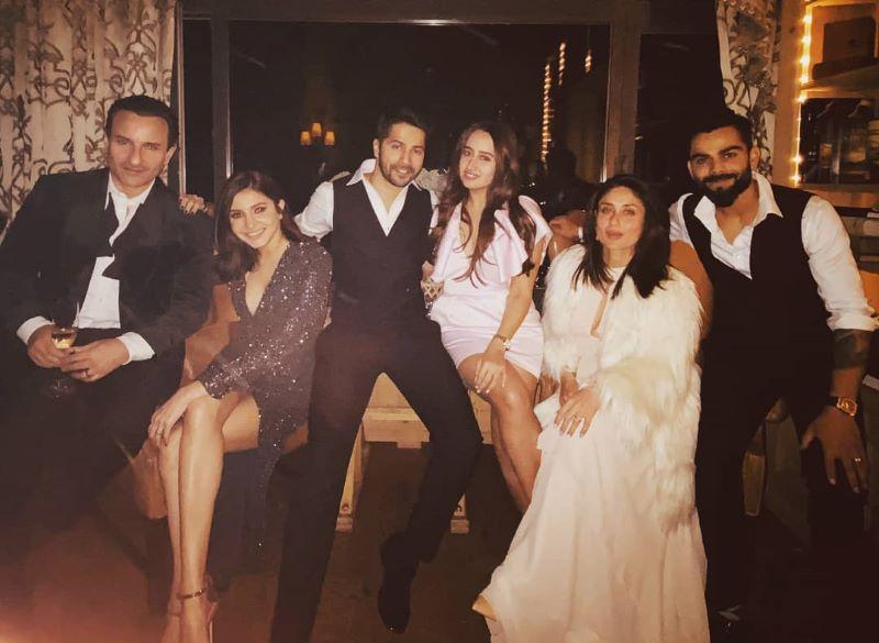 Virat, Anushka, Saif, Kareena,Varun Dhawan, Natasha Dalal spend New Year together