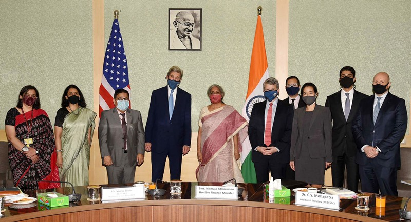 US Special Presidential Envoy for Climate, John Kerry meets Nirmala Sitharaman in New Delhi