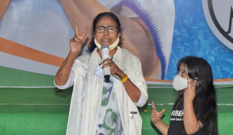 Mamata addresses media after scripting landslide victory in Bengal