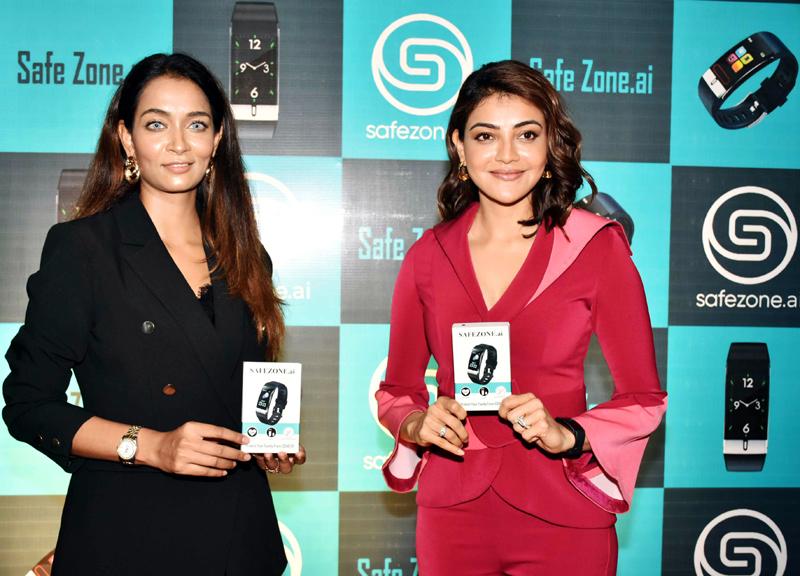 Kajal Aggarwal unveils SafeZone-Raksha Watch - A Smart Covid Watch