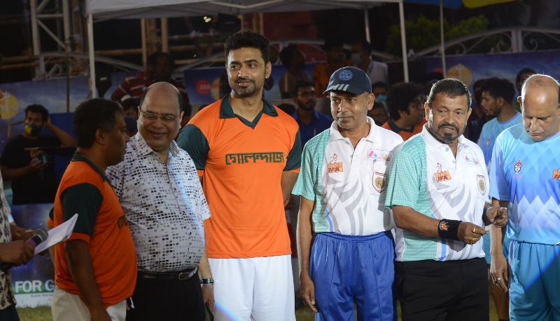 Team Golondaaj and IFA players play football match ahead of Dev starrer film's release