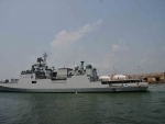 INS Talwar with 40 metric ton liquid medical oxygen arrives from Manana Bahrain at Mangaluru Port