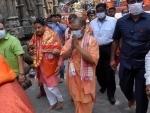 UP CM Yogi Adityanath visits Kamakhya temple