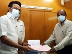 MK Stalin files nomination papers in Chennai