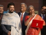 Nirmala Sitharaman in Parliament to present Union Budget 2021